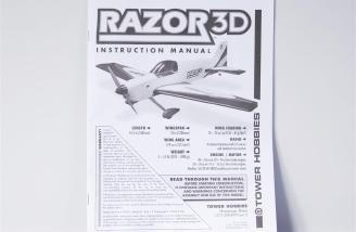 The Tower Hobbies Razor 3D manual.
