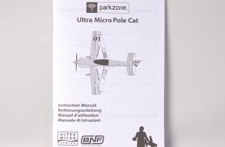 The ParkZone Ultra-Micro Pole Cat manual.