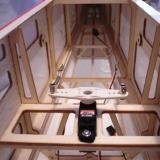 My HS-85MG rudder servo installed in the rudder tray.
