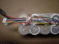 Name: DSC04432.jpg Views: 243 Size: 72.2 KB Description: I use strapping tape to make the positive wire stay in place.  Also hold the tap wires in place.