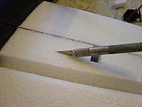 Name: DSC00154.jpg Views: 164 Size: 147.3 KB Description: Cut a slit for the servo wires.