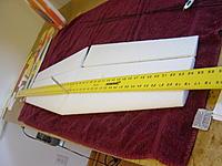 Name: DSC00025.jpg Views: 445 Size: 229.0 KB Description: Use a long straight edge to cut a slit just deep enough for the spar.