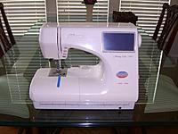 Name: 160665513_janome-9000-computerized-embroidery-sewing-machine[1].jpg Views: 9 Size: 65.7 KB Description: Clean and like new.  Has been keep in A/C it entire life.  You can get a great deal on this machine.  Compare it to the current retail price!