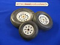 Name: ESM scale wheels.jpg Views: 9 Size: 6.2 KB Description: Scale wheels with brass bearings, screw together meatal hubs and low bounce treaded tires.