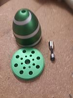 Name: race car 008.jpg Views: 1 Size: 743.6 KB Description: Green spinner with silver spiral strip for special affects.