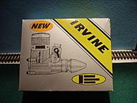 Name: Irvine%2020%20Car[1].jpg Views: 59 Size: 169.6 KB Description: NIB never fune Irvine .40 ABC engine with muffler for $45 plus shipping.