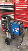 Name: 62930708-AC63-4AE0-9BE5-4F47BC34B07D.jpeg Views: 13 Size: 250.9 KB Description: 6 years of owning this welder I finally got around to building a cart for it.  Ive been trying to get the shop more dialed in and get more things on casters