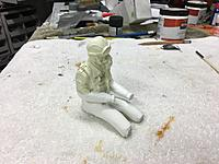 """Name: IMG_2303.JPG Views: 18 Size: 1.82 MB Description: Aces of Iron 1/8 scale US Pilot with torso, arms, and legs added.  Hands were later added.  Here, the legs have gotten """"slurry"""" coats, while the arms are still just raw foam."""