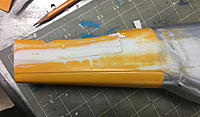 Name: IMG_7938.jpg Views: 48 Size: 609.1 KB Description: Spacers spacked.  Slit cut in lower fuselage to deepen aft end.
