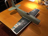 """Name: IMG_8014.jpg Views: 48 Size: 554.6 KB Description: The iPhone camera makes the wing look larger than it actually is.  It's only 28"""" span now. Area is comparable or a bit more than the RB-51 conversion, so I'm not concerned."""
