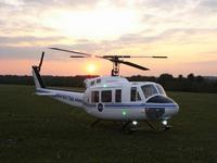 "Name: 080919_4_1280.jpg Views: 1037 Size: 59.8 KB Description: Bell UH-1D ""Nasa"": - JetCat PHT-3 Pro Plus Turbine - retractable landing lights - functional cargo hook - 2m rotor diameter - 15kg  - 2,5l kerosine"