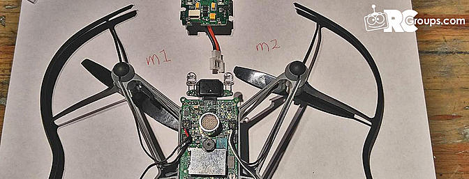 Parrot Mini Drone Conversion to Graupner 2.4 Ghz