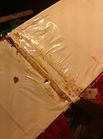 Name: image (25).jpg Views: 31 Size: 105.1 KB Description: The empennage pieces were too damaged to fix. The rudder was rocking back and forth. The epoxy was soft.
