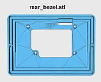 Name: rear_bezel_800.jpg Views: 154 Size: 54.7 KB Description: Qty 6 M3 brass insert are installed on this part.