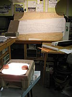 Name: Using overhead projector to scale up 3view drawings.jpg