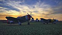 """My FMS P-47G Thunderbolt 980mm High Speed Series alongside my buddy Robert's BlitzRCWorks 58"""" wingspan P-38 Lightning V2."""