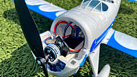 All-Stock Internals. Planning to upgrade to an Eflite BL180 3600KV Motor and Eflite 120mm X 70mm Try-Blade Prop. Turnigy Nano-Tech 2S 300mAh 35C (16 grams) situated very aft (just a half inch in front of the UMX AS3X RX Board).