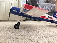"""Name: 2.jpg Views: 94 Size: 511.4 KB Description: Ride Height has been increased due to 1/2"""" longer Landing Gear Legs. Legs have been slightly raked forward, further reducing the tail from lifting up and causing a Noseover or Prop Strike."""