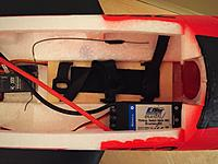 Name: 7. Upgraded ESC Relocated.jpg Views: 249 Size: 491.9 KB Description: Eflite 70-amp Switch Mode BEC Brushless ESC now relocated to the interior compartment, allowing easy access and airflow to the ESC.