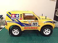 Name: 7F8DDB0B-AC75-4459-B52D-441629035337.jpeg Views: 41 Size: 1.30 MB Description: Tamiya Rally Pajero