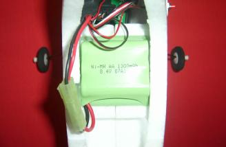 Battery installed in battery bay
