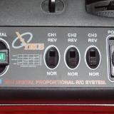 Radio shot showing switches