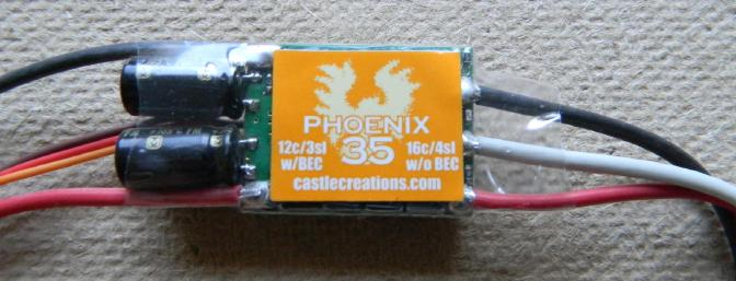 Stevens recommends this Castle Creations 35 amp. ESC.