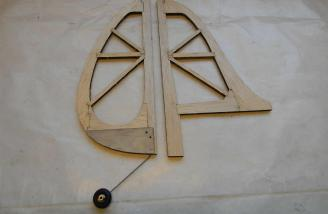 A very sturdy way to mount the tail wheel.