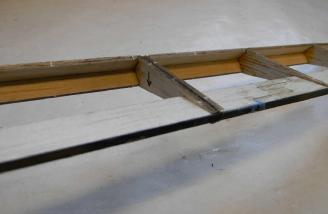 Carbon fiber reinforces the ailerons.