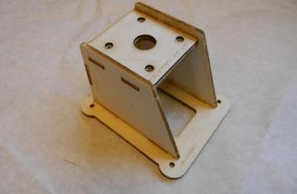 A very simple motor mount. I start with CA and when it is set add a fillet of epoxy.