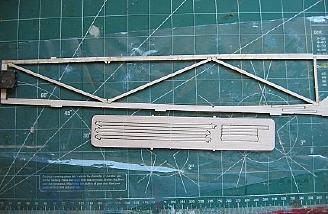 The fuselage started with a truss built from initially fragile parts.