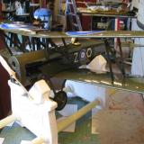 Assembly complete, the SE5a awaits balancing and final adjustments.