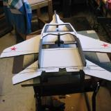 Looking at the underside of the MIG to see the placement of the motor mount.