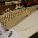 Here is the framed up fuselage side.