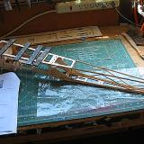 The fuselage sides were oriented by the keel-like bottom piece.