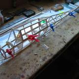 The basic fuselage framework.