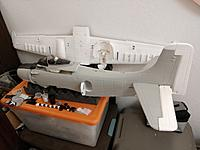 Name: 15382474175186051932263537935233.jpg Views: 15 Size: 786.6 KB Description: Matte Gull grey paint. Underside, elevators, flaps and ailerons are painted in a gloss white.