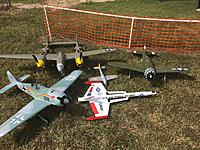 Name: image.jpg Views: 25 Size: 1.31 MB Description: My fleet for the day.  FlightlineRC P-38L, EFlite P-47D, Freewing FW-190A8, EasySky FW-190D, DynaSoar Rocketry Intercepter III