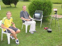 Name: MikeRcFlyingVirginia08-06-2005-017.jpg Views: 4022 Size: 165.1 KB Description: Vintage Ground station with TV monitor in 2005