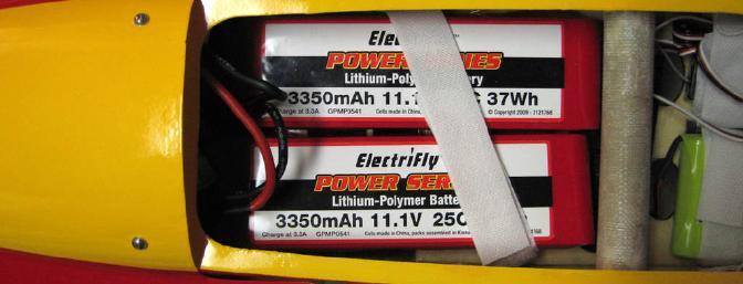 Batteries at correct balance point.