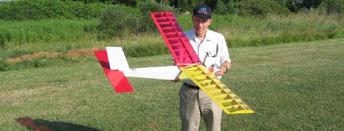 My friend and spotter with his custom designed FPV plane.