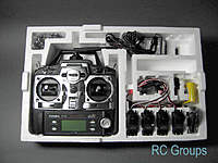 Complete radio set with digital servos