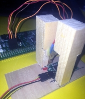 Name: dbeach-pogo-stand.jpg Views: 201 Size: 33.0 KB Description: Here is my setup for loading firmware using the STM32F0Discovery board and Pogo Pins from Sparkfun.