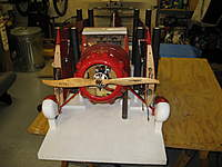 Name: IMG_1773.jpg Views: 254 Size: 73.8 KB Description: Still need to work in some velcro to hold down the wheels and the tail.  Also a block to hold the tail wheel off the ground.