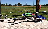 Name: TREX-01.jpg Views: 500 Size: 300.6 KB Description: The Dominator out for the day with my 7 year old T-rex 450SE