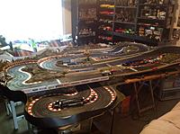 Name: image.jpg Views: 209 Size: 966.0 KB Description: My 4 lane slot car track  RIP track....tore it down to make room for more planes.