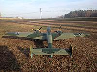 Name: image-af2ad586.jpg Views: 20 Size: 741.5 KB Description: My low cut airstrip off the side of my house.  BF-110 ready for takeoff.