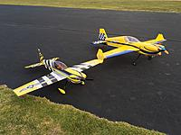 Name: IMG_0767.JPG Views: 175 Size: 1.04 MB Description: Far side - ExtremeFlight Yellow Blue MXS 76, along with my 60 MXS baby metal