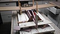 Name: Wing and tailplane mounting.jpg Views: 46 Size: 748.8 KB Description: I level the wing on the jig, then level the tailplane on the fuse.  There's a twist in the fuse, so I'll have to keep it jigged when adding the fuse top.   ..