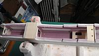 "Name: Inner, fwd fuse.jpg Views: 46 Size: 590.7 KB Description: 1/4"" sq. pink foam longerons."